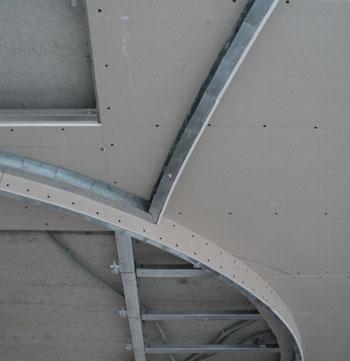 Двухуровневый потолок гипсокартоном